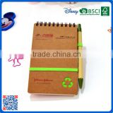Small size cheap bulk paper craft blank notepad with craft paper ball pen