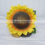 Outdoor solar power resin sunflower garden lighting