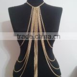 Free sample New Fashion Design Hot-Selling alloy and diamond jewelry Body Chain