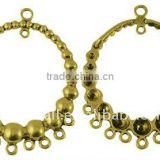 Tibetan Chandelier Rhinestone Connector Settings for Large Earring Hoop(TIBEB-A101751-AG-LF)