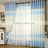 2015 new design polyester blue printed blackout curtain fabric