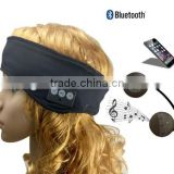 Sleeping Headphones Ultra Thin Eye Mask with Earpieces Soft Sports Headband with Noise Cancelling Speakers Handsfree