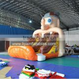 High quality small indoor inflatable slide pool children inflatable pool with slide