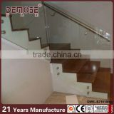 interior stair stainless steel glass railing systems