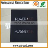 AY Black Thick Sublimation Computer Mouse Mats Cheap Gaming Mouse Pad Anti Slip Rubber Mat with Customized Logo PLAYERONE