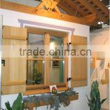 German style inward casement solid wooden louvered windows