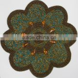 NP660 glass beaded daisy placemat