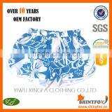 Blue And White Flower Printed 4 Way Stretch Wholesale For Sportswear Beach Shorts