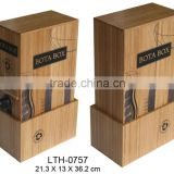 custom bamboo wine packing box wholesale wine packing box supply