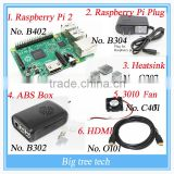 Raspberry Pi 2 Model B 1GB RAM Quad Core Starter Kit - EU Power HDMI Cable Case, ABS Box