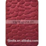 Luxury Memory Foam Plain Color Super Soft Stone Pebble Bathroom Floor Bath Mat -Burgundy
