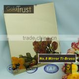 supply mirror ti-brass finish stainless steel sheets for elevator building decoration and wall panels