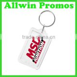 Transparent Acrylic Plastic Keychain Photo Holder
