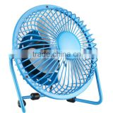 "4"" inch mini USB power desktop metal electric air cooling fan for home office cooler"