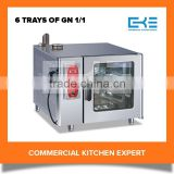 2016 Professional Electric Combi Oven 6 Trays Industrial Outdoor Kitchen Steam Oven