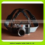 15617 Top grain genuine leather durable camera belt for hang camera neck strap in wholesale