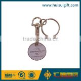 high quality promotional trolley coin keychain with logo