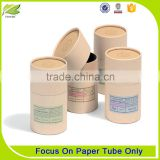 Favoured kraft push up paper tubes with lid