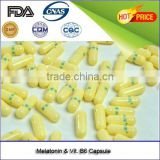 GMP Dietary supplements and High quality product Melatonin and Vitamin B6 powder Capsule