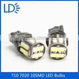 7020 smd 3 leds T10 W5w Car Light Led Bulb Clearance Light T10 5w5 Bulbs Led