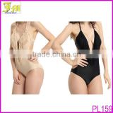 Cheap 2014 Sexy Push Up Padded Halter Monokini One Piece Tassel Bikini Swimsuit Swimwear