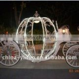 white disc brake cinderella horse carriages with LED light for exhibition for sale
