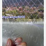 clear plastic mesh netting, clear netting,transparent nylon monofilament fishing net for protection,nylon safety net