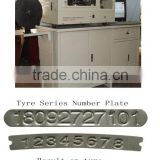 tyre series number aluminium plate printing machine