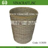 VINTAGE OFFICE BAMBOO WASTE BASKET