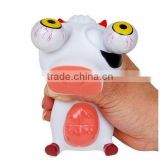 custom make soft rubber plastic eyes pop out animal squeeze toy,soft plastic pop eye squeeze animal toys