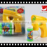 wholesale musical LED light solid color bubble gun with 2 bottles bubble water
