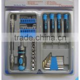 38Pcs Mechanics/Combine Tool Kit/Flank Drive Sockets,/Precision Screwdrivers/ Hex Key/Flexible Shaft/CRV Bit/Ratchet Handle/ADP