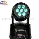 10W*7PCS RGBW 4-in-1 Mini Moving Head LED Wash Moving Head Stage Light