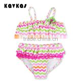 2pcs Latest Fashion Children's Swimwear Hot Sexy Photos Baby Girl Bikini Swimwear 2017