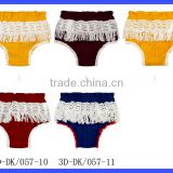 Unisex 0-1years Infant Clothes Plain Color Lace Tassles Newborn Baby Size Toddler Beach Bubble Shorts Diaper