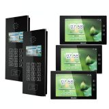 MS302C+MS100C 10 Inch IP Based Video Doorphone System Apartment Building Intercom System