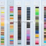 embroidery thread yarn shade card for clothes with good quality