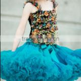 Dance dress baby girls tulle skirt boutique peacock blue alibaba express dresses ballet tutu fluffy pettiskirt