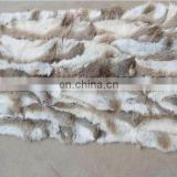 Natural brown rabbit fur plate Real rabbit fur rug /fur blanket