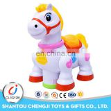 High qulity plastic battery operated mini toy race horse for kids