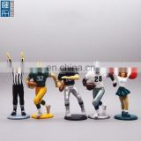 4inch givewawy mini plastic sports figurines, custom made plastic american football player figurine for sports event