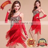 BestDance New Style Latin Salsa Tango Ballroom Dance Dress Tassel Sequins Latin Dance Skirts