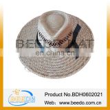 Hot new products for 2014 Wheat Camo Straw Hat Adult Manufacturers for man
