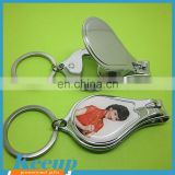 Customized Advertising Metal nail scissors with bottle opener