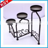 New Product Factory Price Small Elegant White Metal Candle Holder Lanterns With Glass Votive