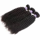 Aligned Weave Cuticle Virgin Blonde 20 Inches Indian Curly Human Hair For White Women