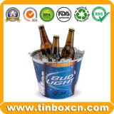 Galvanized Tin Pail Metal Ice Bucket with  Handle