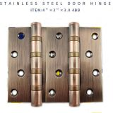 201 Stainless steel hinge red ancient copper surface polish for door and window hinges