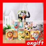 OXGIFT creative colourful animal hand painting ceramic mug