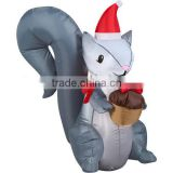 indoor funny Inflatable Squirrel Christmas inflatable decoration